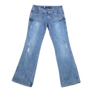 Candies Jeans Womens Distressed Bootcut Jeans Sz 5